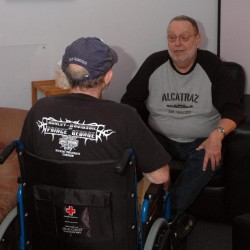 PGCOS Senior Peer Support Program volunteer Bob with a client.
